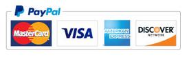 PayPal Mastercard - Visa - American Express - Discover