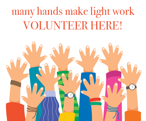 many hands make light work - volunteer here!