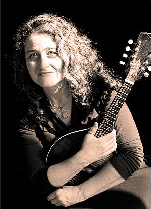 Marla Fibish with mandolin