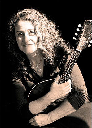 Marla Fibish with mandolin